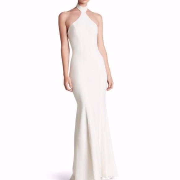 Dress the Population Dresses & Skirts - Dress The Population Taylor Crepe Halter Gown